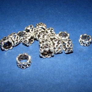 Cső-21/E (10x7 mm/1 db), Gyöngy, ékszerkellék,  Cső-21/E - antik ezüst színben  Mérete: 10x7 mm (belül: 8 mm)Furat: 8 mm  Az ár egy darab termékre ..., Meska