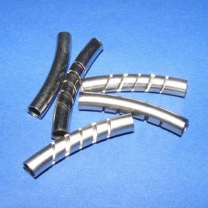 Cső-3 (30x5 mm/1 db), Gyöngy, ékszerkellék,  Cső-3 - nikkel színben  Mérete: 30x5 mm  Az ár egy darab termékre vonatkozik.    , Meska