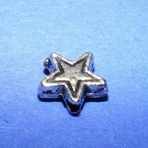 Köztes (605. minta/1 db) - csillag, Gyöngy, ékszerkellék, Ékszerkészítés, \nEzüst színű köztes (605. minta) - csillag\n\nMérete: 6,5 mm\n\nAz ár 1 db termékre vonatkozik.\n\n\n..., Meska