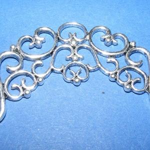 Köztes (717. minta/1 db), Gyöngy, ékszerkellék,  Fém köztes (717. minta) -  antik ezüst színben  Mérete: 33x55x2 mm  Az ár egy darab termékre vonatk..., Meska