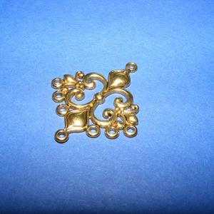 Medál alap (514/A minta/1 db), Gyöngy, ékszerkellék,  Kombinált medál és nyaklánc kiegészítő/összekötő (514/A minta) - antik arany színben  Mérete:..., Meska