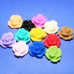Viaszkő rózsa (44/B minta - 12 db) - mix - gyöngy, ékszerkellék - cabochon - Meska.hu