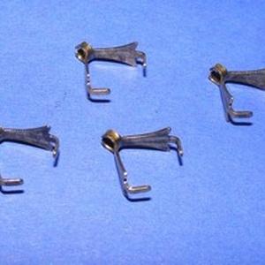 Karmos kőfogó (354/F minta/1 db) , Gyöngy, ékszerkellék,  Karmos kőfogó - bronz színben  Mérete: 10x5 mm  Az ár 1 db termékre vonatkozik. , Meska