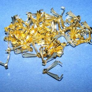 Karmos kőfogó (354/K minta/1 db) , Gyöngy, ékszerkellék, Ékszerkészítés,  Karmos kőfogó - arany színű  Mérete: 10 mm  Az ár 1 db termékre vonatkozik.   , Alkotók boltja
