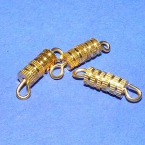 Csavaros kapocs (341/D minta/1 db) - 9x4 mm, Gyöngy, ékszerkellék, Ékszerkészítés, \nCsavaros kapocs (341/D minta) - arany színben\n\nMérete: 9x4 mm\n\nAz ár egy darab termékre vonatkozik...., Meska