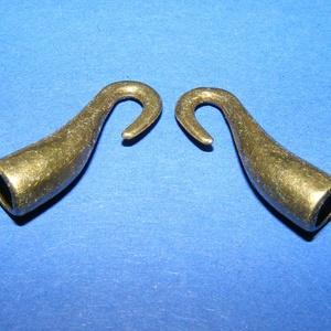 Kapocs, csatlakozó (1351. minta/1 db), Gyöngy, ékszerkellék, Ékszerkészítés, \nKapocs, csatlakozó (1351. minta) - bronz  színben\n\nA kapocs elsősorban bőr karperecek\r\n készítéséhe..., Meska