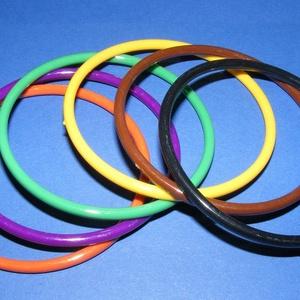 Műanyag karika (Ø 73 mm/1 csomag) - 6 szín (csimbo) - Meska.hu