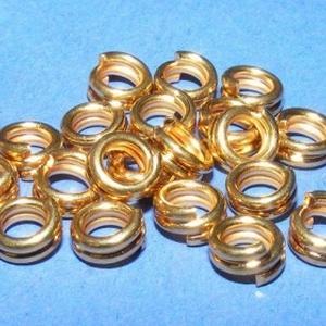 Szerelőkarika (1012/D minta/20 db) - 5x1 mm (csimbo) - Meska.hu
