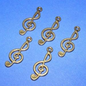 Medál (501/A minta/1 db) - violinkulcs (csimbo) - Meska.hu