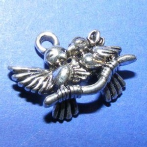 Medál (655. minta/1 db) - madár pár (csimbo) - Meska.hu