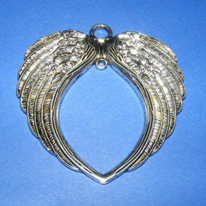Szárny (551/S minta/1 db), Gyöngy, ékszerkellék,  Angyalszárny (551/S minta) - antik ezüst színben  Mérete: 74x69 mm  Az ár egy darab termékre vonatk..., Meska