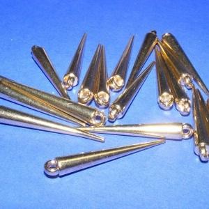 Felületkezelt műanyag medál (701/A minta/1 db) - tüske (csimbo) - Meska.hu