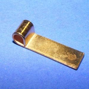 Medálrögzítő (352/D minta/1 db), Gyöngy, ékszerkellék, Ékszerkészítés,  Medálrögzítő (352/D minta) - ragasztható - arany színben  Mérete: 14x4 mmA lyuk mérete: 3 mm  Az á..., Alkotók boltja