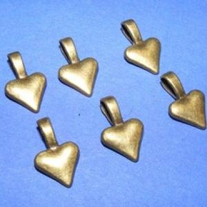 Medálrögzítő (353/A minta/1 db), Gyöngy, ékszerkellék,  Medálrögzítő (353/A minta) - ragasztható - antik bronz színben  Mérete: 15x10 mmA ragasztható rész:..., Meska
