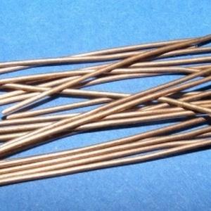 Szerelőpálca (1057/R minta - 17 mm/10 db) , Gyöngy, ékszerkellék, Ékszerkészítés,  Szerelőpálca - talpas (1057/R minta - 17 mm) - vörösréz színben  Mérete: 17 mm Az ár 10 db termék..., Alkotók boltja