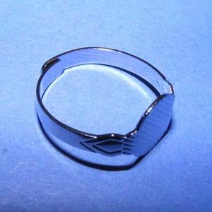 Gyűrű alap (24. minta/1 db), Gyöngy, ékszerkellék,  Gyűrű alap (24. minta) - ragasztható - nikkel színben  Mérete: 18 mm (tárcsa mérete: 10 mm)  Az ár ..., Meska