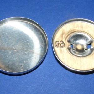 Fém gomb alap (2. méret/1 db) - gomb - Meska.hu