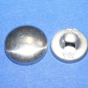 Fém gomb alap (9. méret/10 db), Gomb, Varrás, \nFém gomb alap (9. méret)\n\nA csomag tartalma 10 darab behúzható fém (alumínium) gomb alap (alsó és f..., Meska