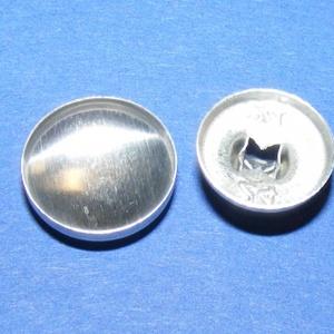Fém gomb alap (9. méret/10 db) - gomb - Meska.hu