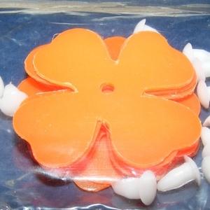Dekorációs virágok (kicsi) - narancssárga (csimbo) - Meska.hu