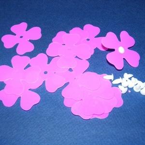 Dekorációs virágok (nagy) - rózsaszín (csimbo) - Meska.hu