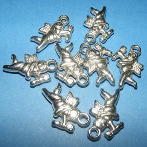 Felületkezelt műanyag medál (K43. minta/1 db) - angyal (csimbo) - Meska.hu