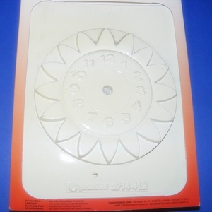 Gipszöntő forma óraszerkezettel (1 db) - virágos falióra (csimbo) - Meska.hu