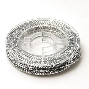 Fonott kötözőzsinór (Ø 0,6 mm/1 tekercs) - ezüst (csimbo) - Meska.hu