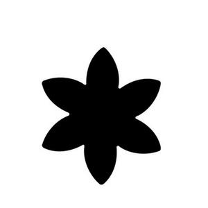Dekorgumi- és papírlyukasztó (2. minta/1 db) - csillagvirág - 25 mm (csimbo) - Meska.hu