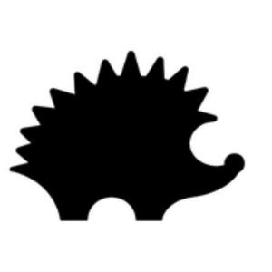 Dekorgumi- és papírlyukasztó (20. minta/1 db) - süni - 25 mm (csimbo) - Meska.hu