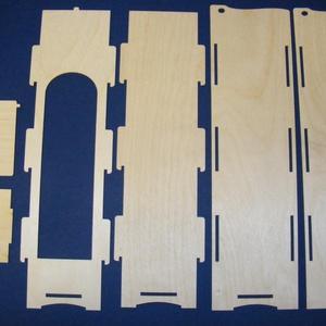 Boros fadoboz (1 db) - összerakható, Fa,  Boros fadoboz - összerakható   A mérete (összeállítva): 10x10x36 cmAnyaga: rétegelt lemez  A dobozt..., Meska