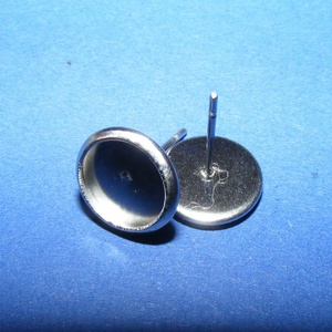 Nemesacél fülbevaló alap (STAS-40/B - 2 db) (csimbo) - Meska.hu