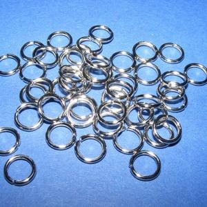 Szerelőkarika (1023. minta/20 db) - 8x1,2 mm, Gyöngy, ékszerkellék, Ékszerkészítés,      Szerelőkarika (1023. minta) - szimpla - platinum színben Mérete: 8x1,2 mm   Az ár 20 db termék..., Alkotók boltja