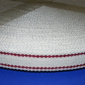Gurtni (25 mm/1 m) - fehér/bordó - Meska.hu