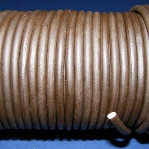 Hasított bőrszíj - 5 mm (9. minta/1 m) - sötétbarna, Egyéb alapanyag, Vegyes alapanyag, Bőrművesség, \nHasított bőrszíj (9. minta) - sötétbarnaMérete: 5 mm átmérőjűValódi hasított marhabőrből készült.\n\n..., Meska