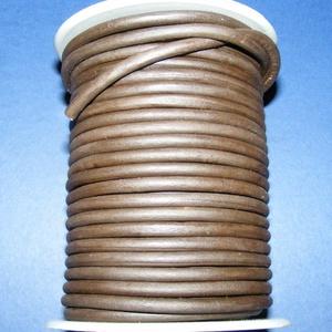 Hasított bőrszíj - 5 mm (9. minta/1 m) - sötétbarna (csimbo) - Meska.hu