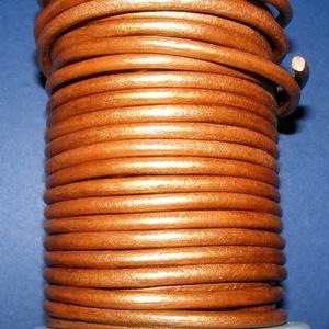 Hasított bőrszíj - 5 mm (4. minta/1 m) - óarany (metál) - Meska.hu