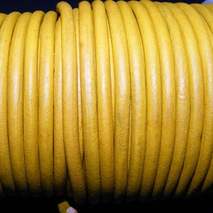 Hasított bőrszíj - 5 mm (14. minta/1 m) - antik sárga (AKCIÓS) (csimbo) - Meska.hu