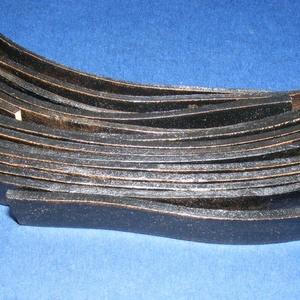 Hasított lapos bőrszíj (12/A minta/1 db) - fekete (csimbo) - Meska.hu