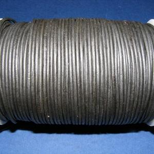 Hasított bőrszíj - 2 mm (18. minta/1 m) - fekete, Vegyes alapanyag, Egyéb alapanyag, Bőrművesség,  Hasított bőrszíj (18. minta) - tekercses - fekete  Mérete: 2 mm átmérőjű Valódi hasított marhabőr..., Alkotók boltja