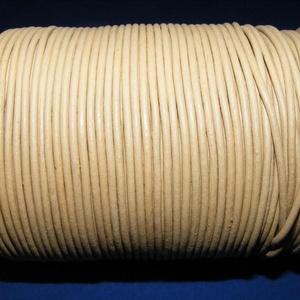 Hasított bőrszíj - 2 mm (23. minta/1 m) - homok, Egyéb alapanyag, Vegyes alapanyag, Bőrművesség, \nHasított bőrszíj (23. minta) - tekercses - homok\n\nMérete: 2 mm átmérőjű\r\nValódi hasított marhabőrbő..., Meska