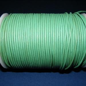 Hasított bőrszíj - 2 mm (25. minta/1 m) - zöld (AKCIÓS), Egyéb alapanyag, Vegyes alapanyag, Bőrművesség, \nHasított bőrszíj (25. minta) - tekercses - zöld - AKCIÓS\n\nMérete: 2 mm átmérőjű\r\nValódi hasított ma..., Meska