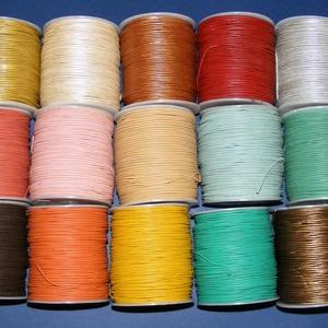 Hasított bőrszíj - 2 mm (15. minta/1 m) - arany (metál) (csimbo) - Meska.hu
