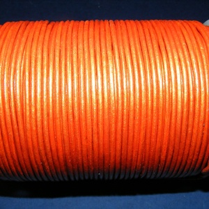 Hasított bőrszíj - 2 mm (16. minta/1 m) - narancssárga (metál) (csimbo) - Meska.hu