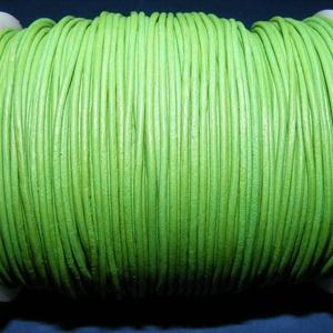 Hasított bőrszíj - 1,5 mm (4. minta/1 m) - fűzöld (csimbo) - Meska.hu