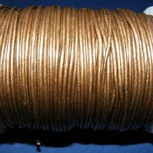 Hasított bőrszíj - 1,5 mm (8. minta/1 m) - bronz (metál) - Meska.hu