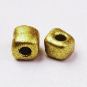 Szögletes gyöngy (37. minta/15 g) - metál arany (csimbo) - Meska.hu