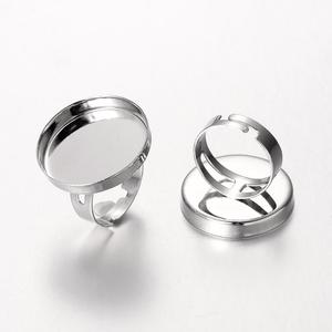 Gyűrű alap (2/B minta/1 db), Gyöngy, ékszerkellék, Ékszerkészítés,  Gyűrű alap (2/B minta) - ragasztható - platinum színben  Mérete: a karika átmérő: 18 mm; szélesség..., Alkotók boltja