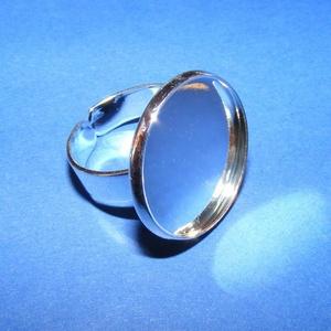 Gyűrű alap (63/S minta/1 db) - ezüst (csimbo) - Meska.hu