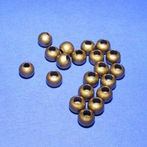 Bronz köztes (618/A minta/10 db) - Ø 5 mm, Gyöngy, ékszerkellék,  Bronz köztes (618/A minta) - bronz színben  Mérete: Ø 5 mmFurat: 1,8 mm  Az ár 10 darab termékre vo..., Meska